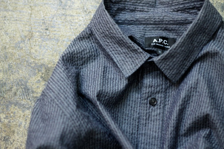 A.P.C. Seersucker Stripe Shirt