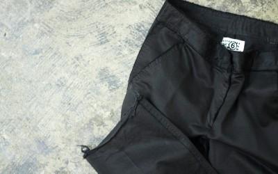 Maison Martin Margiela ⑥ Cut Off Black pant