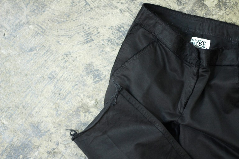 Maison Martin Margiela ⑥ Cut Off Black pant