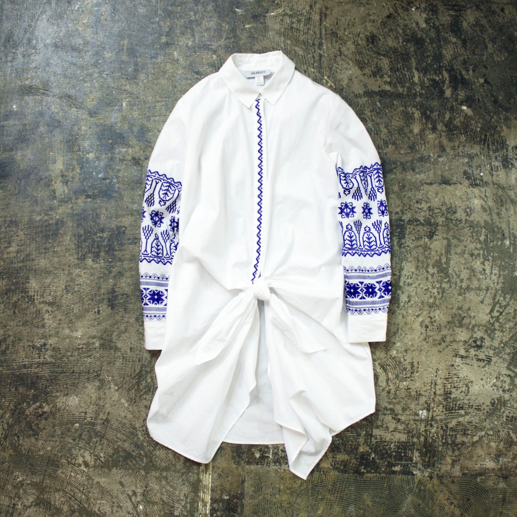 MAURIE&EVE Embroidery Shirt Onepiece