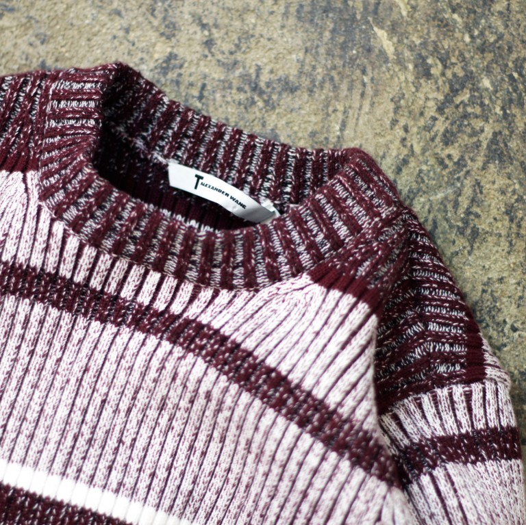 T by ALEXANDER WANG Border Rib Knit