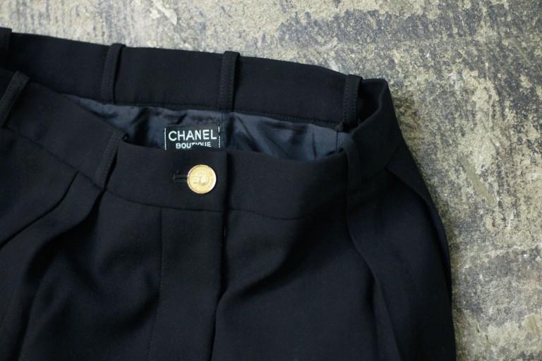 CHANEL Vintage Hi-Waist Tuck Pant