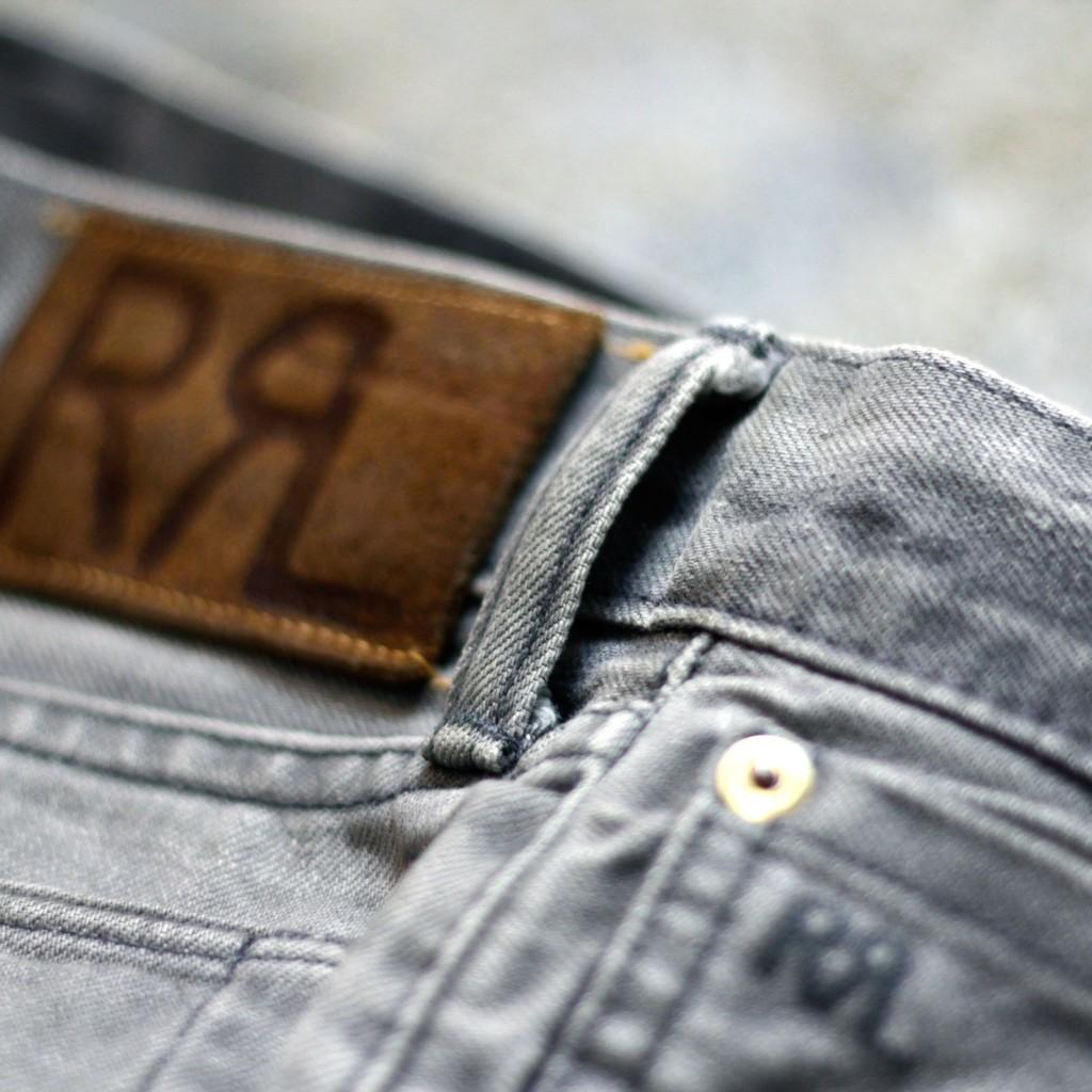 "RRL Slim Fit Black Denim ""Storm Gray Wash """