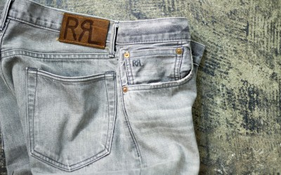 "RRL Slim Fit Black Denim ""Storm Grey Wash"""