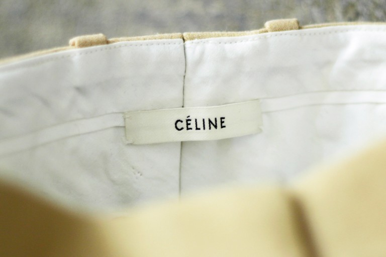 CÉLINE Tapered Senter Press Pants