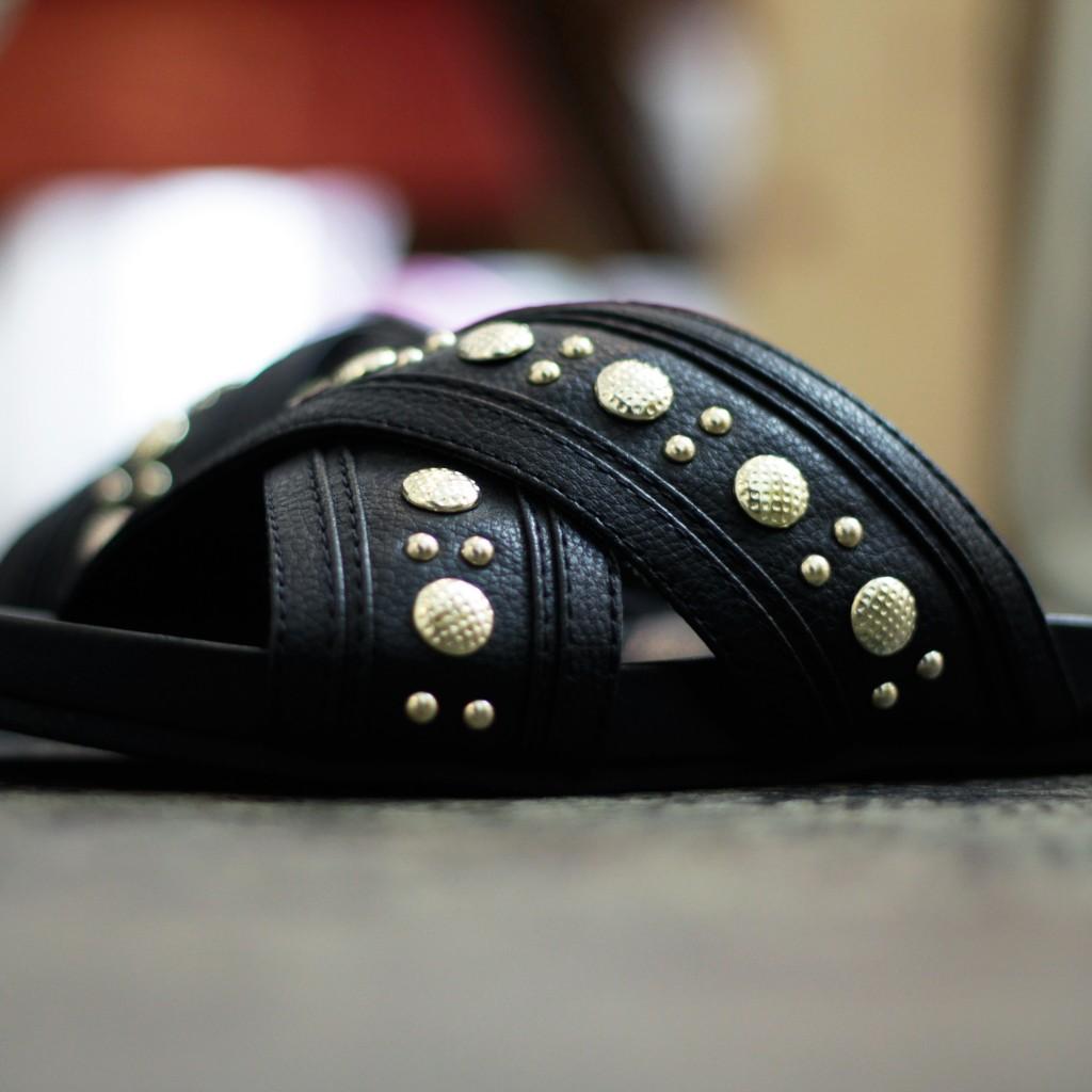 REBECCAMINKOFF Studs Flat Sandal