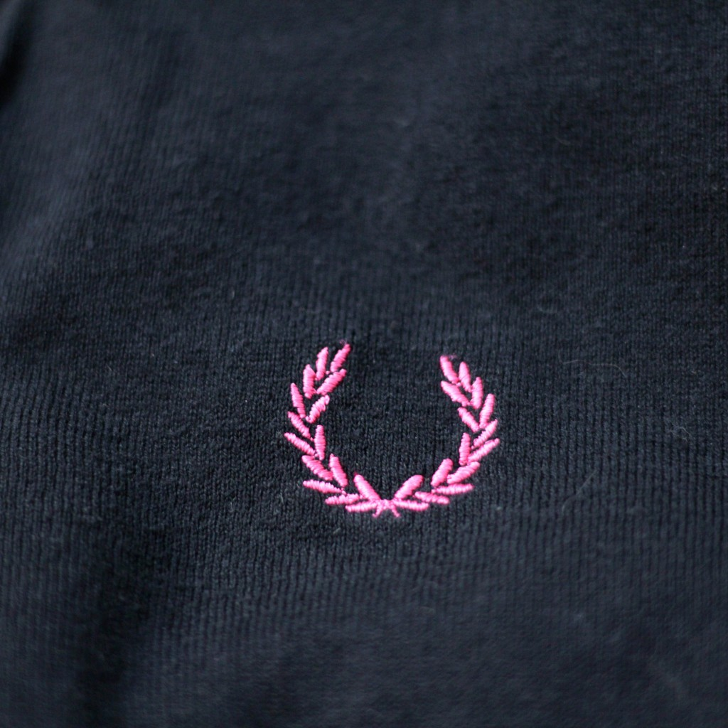 RAF SIMONS×FRED PERRY Cotton-Silk Knit
