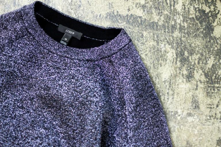 J.CREW Glitter Design Knit