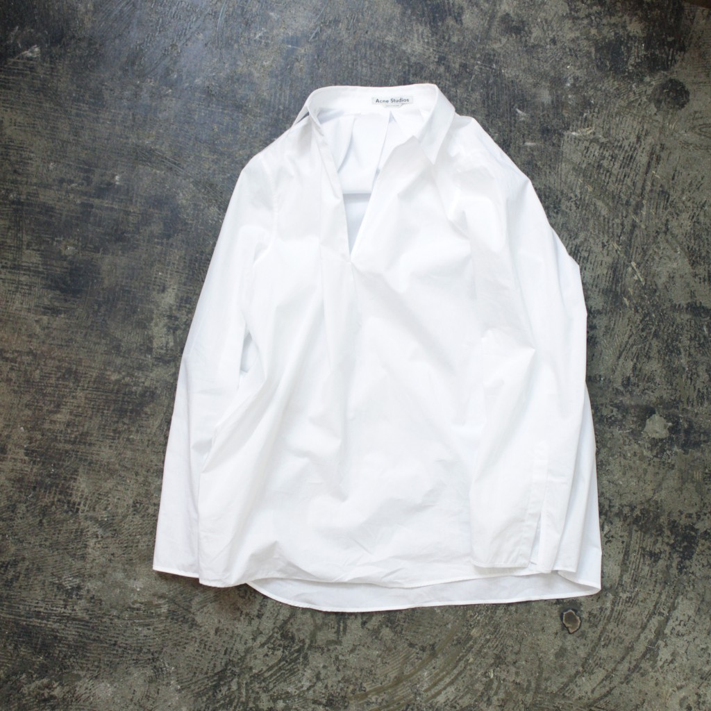 Acne Studios Over Line White Shirts