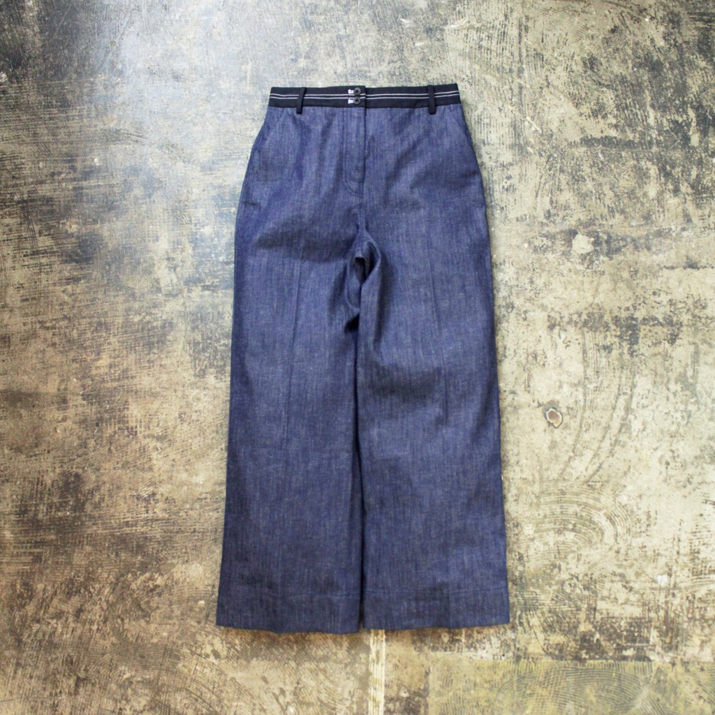 ELIZABETH AND JAMES Senter Press Wide Denim