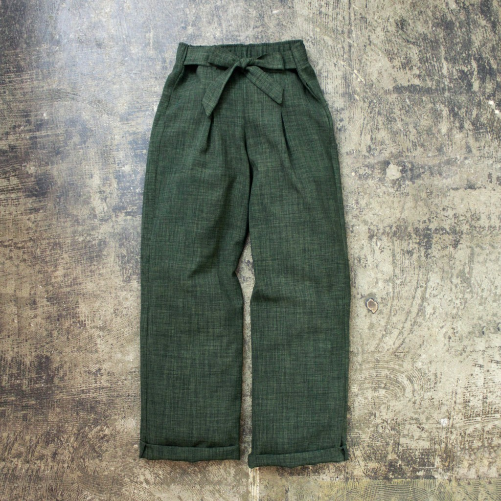 HARLOWE & GRAHAM Tuck Wide Pant