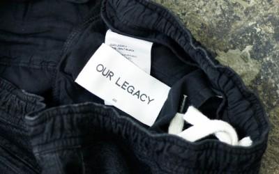 """OUR LEGACY Linen×Cotton Shorts """"SALT BLACK"""""""