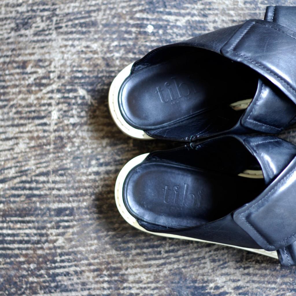 Tibi Cross Strap Flat Sandal