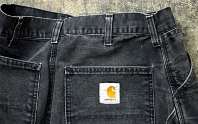 """Carhartt Vintage Single Knee Duck Shorts """"Made in USA"""""""