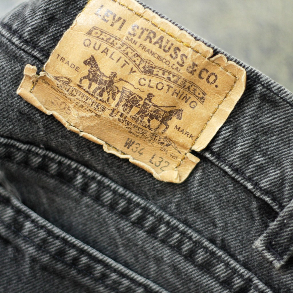 Levi's vintage 505 Black Denim Made in USA
