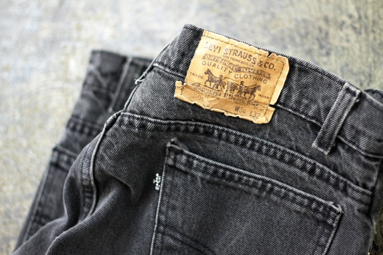 "Levi's Vintage 505 Black Denim Made in U.S.A ""BLACK TAB"""