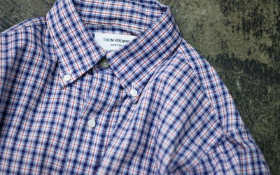 THOM BROWNE. NEW YORK B.D. Check Shirt