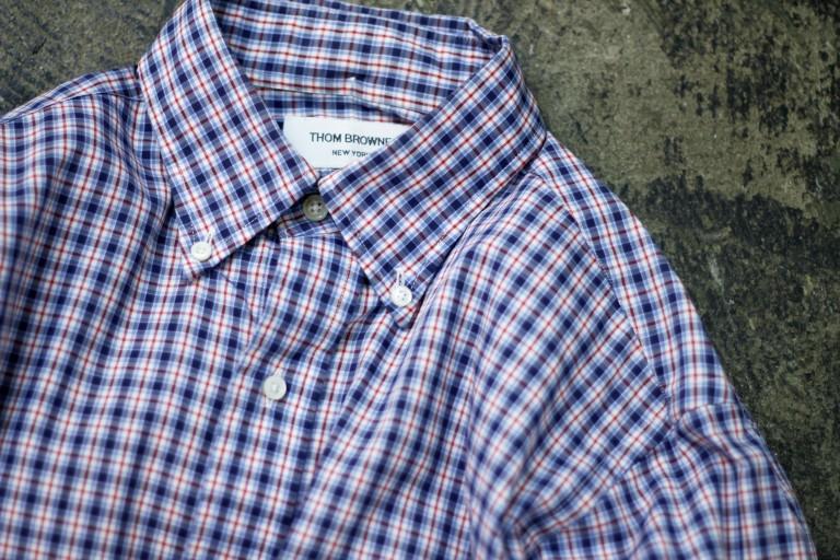 THOM BROWNE. NEW YORK B.D. Check Shirt
