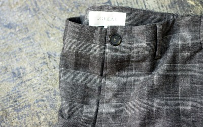 "The GREAT. ""Glen Check"" Trousers"