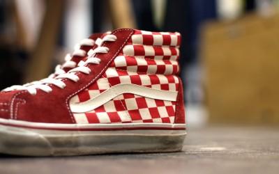 """VANS Vintage 00′s Sk8-Hi """"Checker Flag"""""""