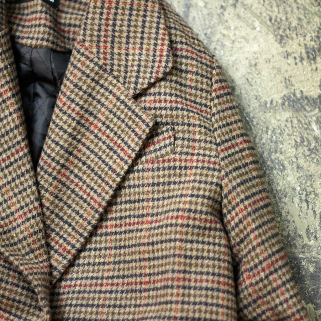 Check Pattern Double Chester Coat