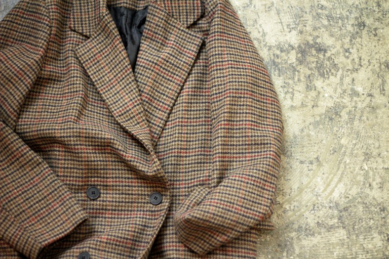 Hound's Tooth Check Chester Over Coat