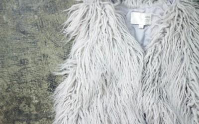 J.O.A. Shaggy Fur Vest