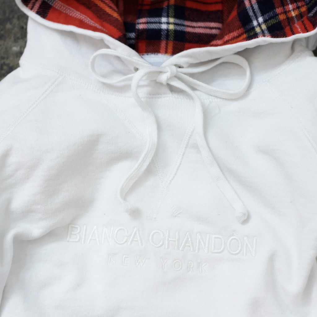 BIANCA CHANDON Logotype Pullover Hoodie