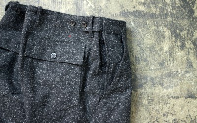 APOLIS Double Pocket Wool Trousers
