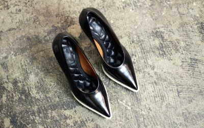 CÉLINE Leather Stiletto Heel Pumps