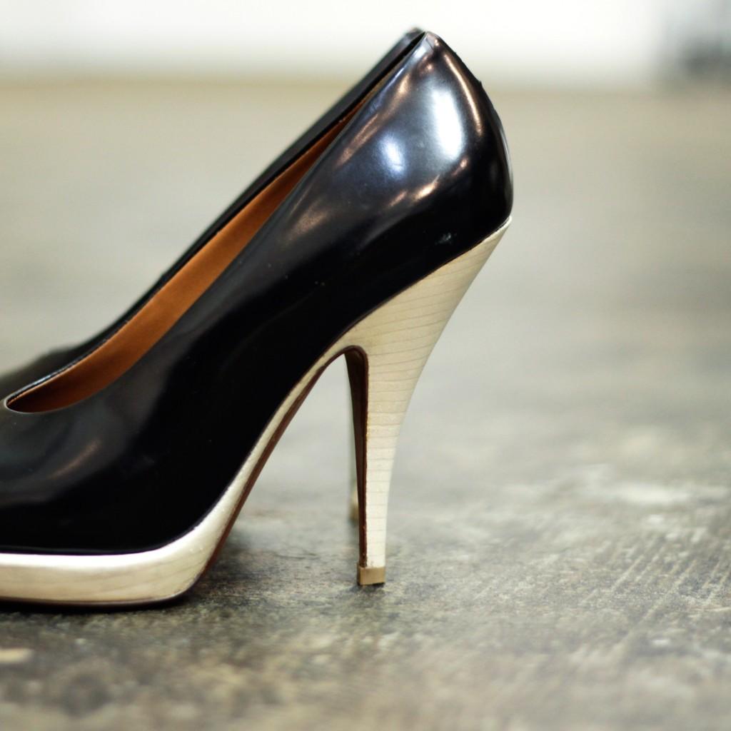 CÉLINE Leather Stiletto Heel Pumps