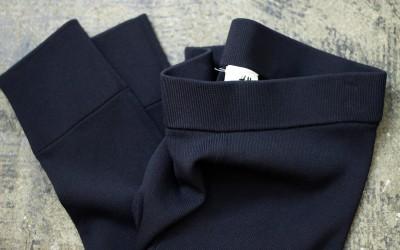 H&M STUDIO Rib Hi Waist Slim Pants