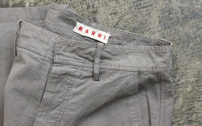 MARNI Heavy Cotton Wide Pants