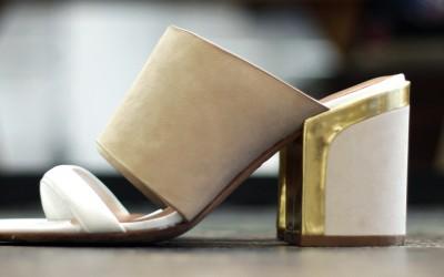 REBECCA MINKOFF Double Belt Nudie Sandal