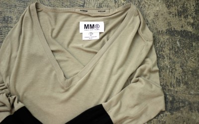 MM6 × OPENING CEREMONY Sleeve Combi V-Neck Cut&Sewn