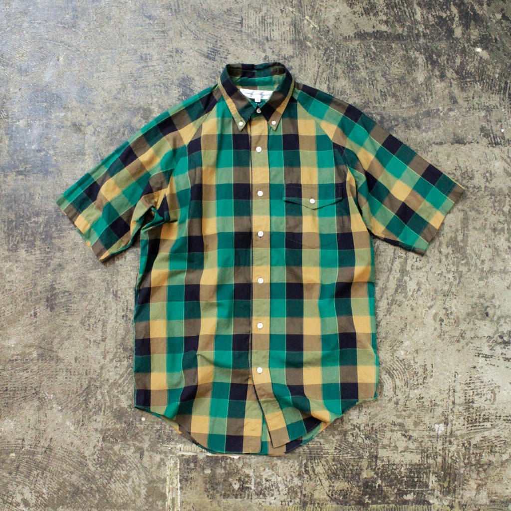 COMME des GARCONS SHIRT S/S Block Check Shirt