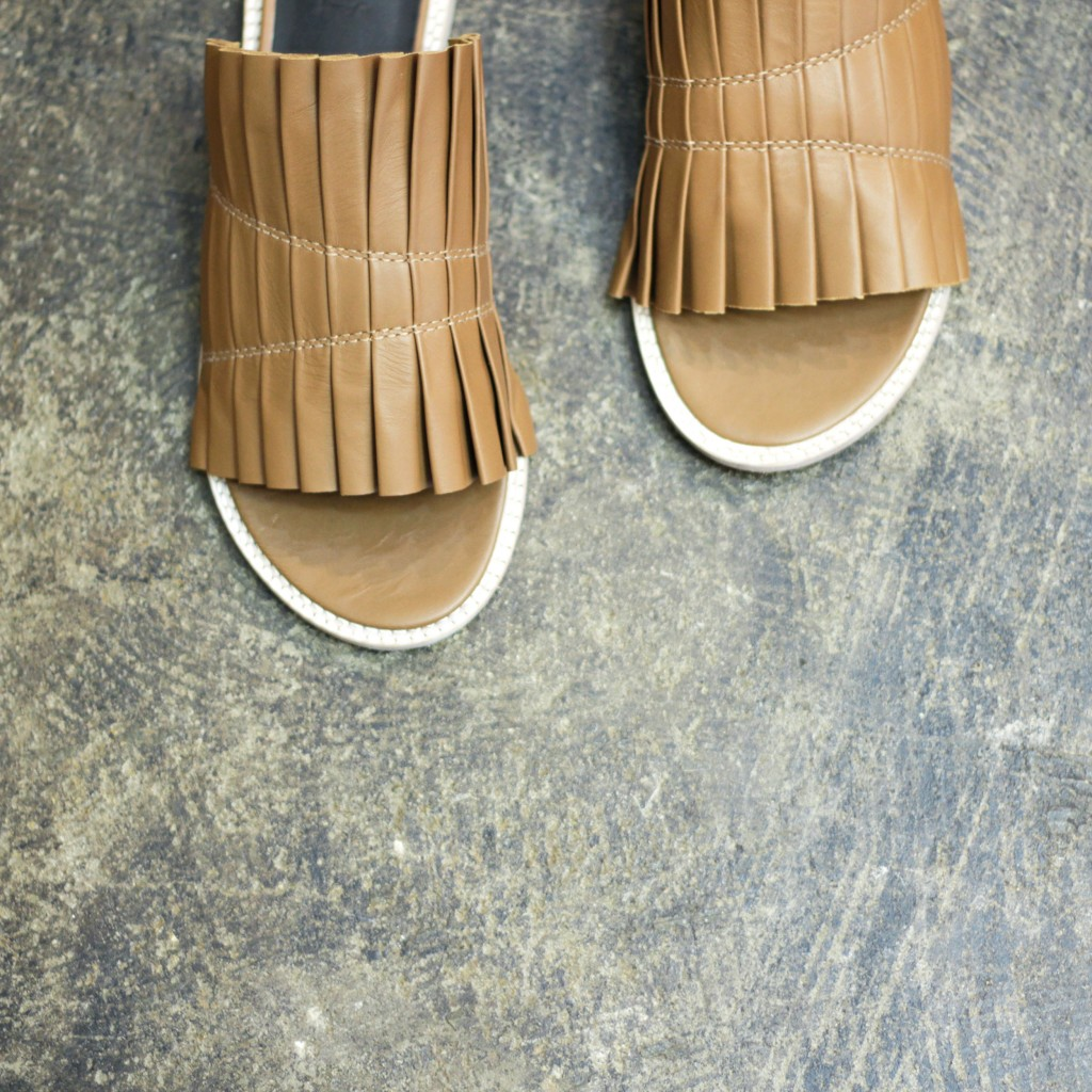 TIBI Pleated Sandal