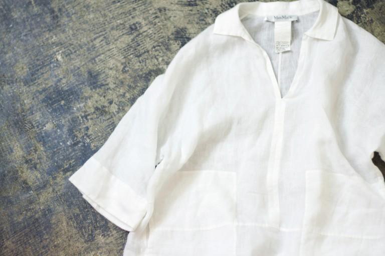 Max Mara Linen White Shirts