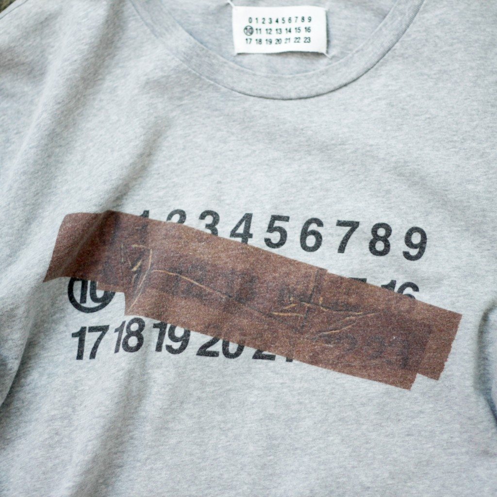 Masion Martin Margiela ⑩ Number Tape Effect T-Shirts