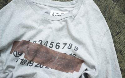 Maison Martin Margiela ⑩ Number Tape Effect T-Shirts