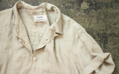 steven alan × ALEXANDER YAMAGUCHI S/S Open Collar Linen Shirt