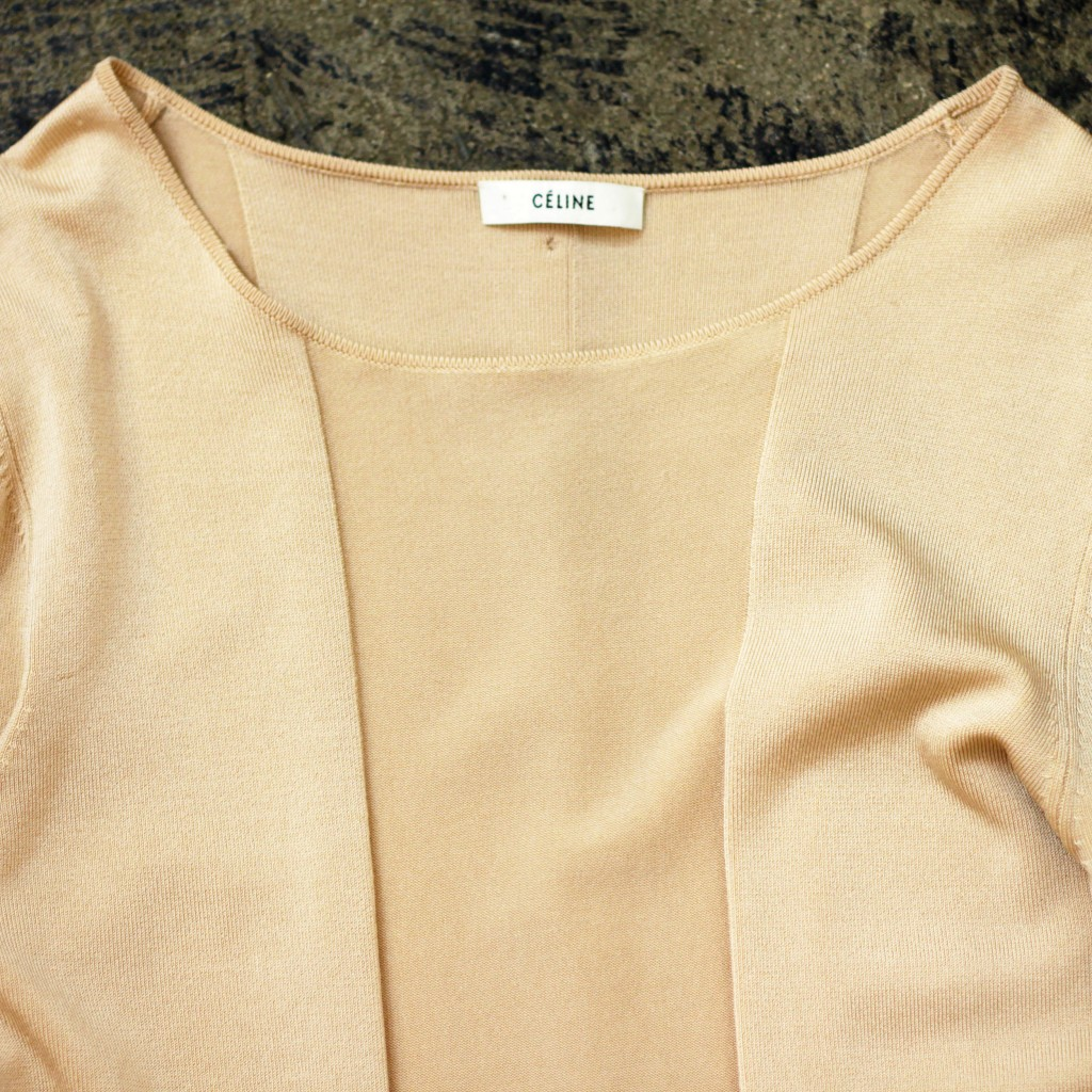 CELINE Back Design Silk Knit