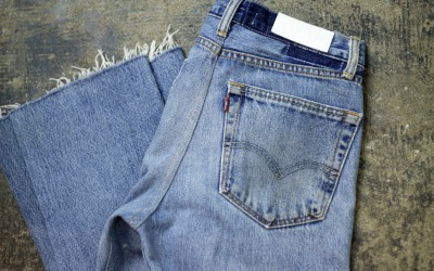 Re/Done x Levi's High Rise Crop Flare Denim