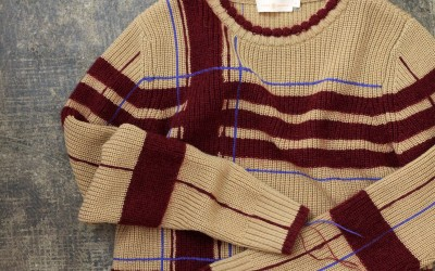 TORY BURCH Check Pattern Knit