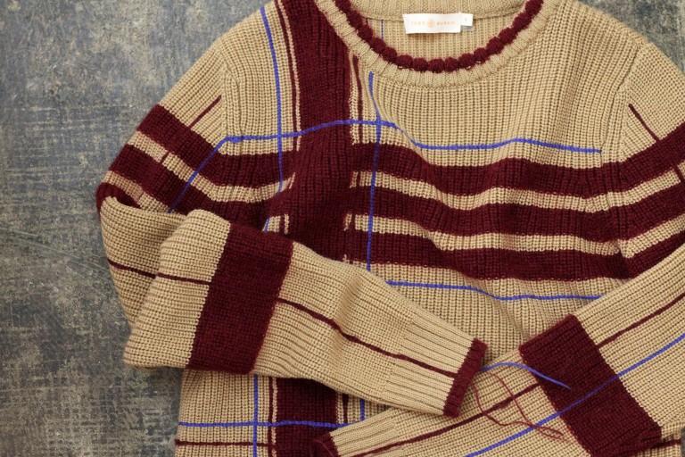 TORY BURCH Check Pattern Knit