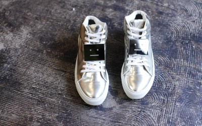 Acne Studios Metallic Leather Cleo Sneaker