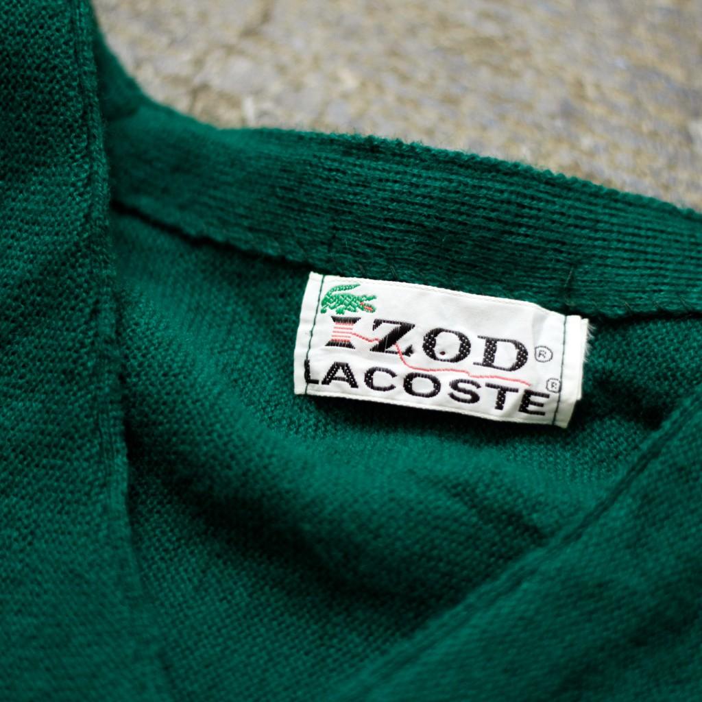 IZOD LACOSTE Vintage V-Neck Wool Cardigan