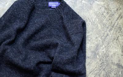 "PENDLETON Shetland Crew Sweater ""INDIGO HEATHER"""