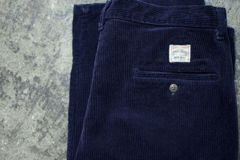 "POLO CORDS 90's Tuck Corduroy Pants ""Made in U.S.A"""