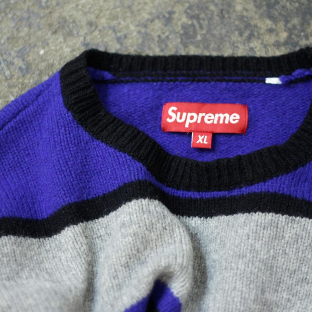 Supreme 2008AW Border Sweater